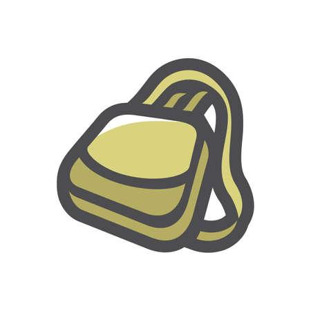 Hunter Bag Handbag Vector icon Cartoon illustration