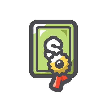 Sertificate license blank Vector icon Cartoon illustration