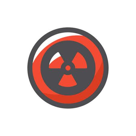 Radiation round Sign Vector icon Cartoon illustration.