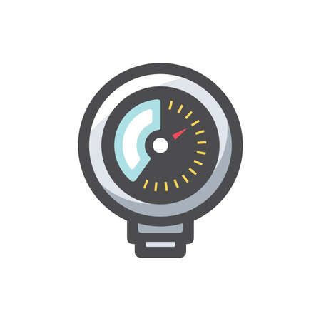 Pressure Gauge equipment Vector icon Cartoon illustration