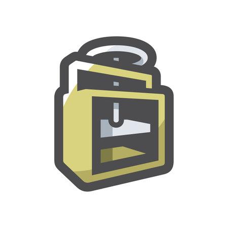 Press waste paper Vector icon Cartoon illustration 矢量图像