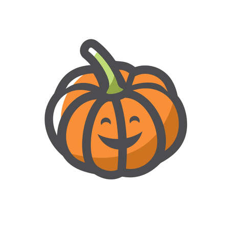 Pumpkin Gourd Vegetable Vector icon Cartoon illustration. 矢量图像