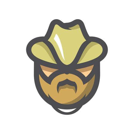 Ranger in a cap Vector icon Cartoon illustration.
