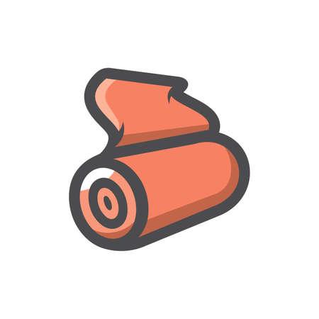 Rolls of Matter. Textile. Vector icon Cartoon illustration.