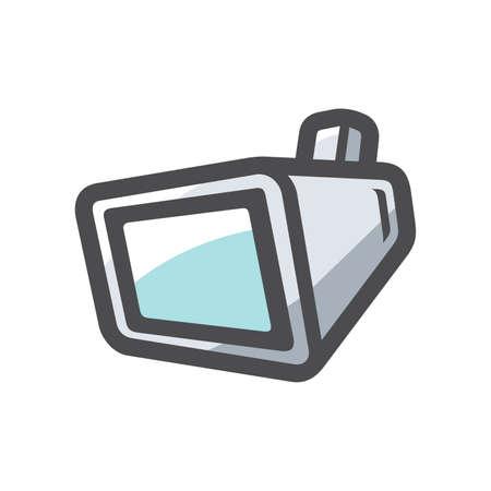 Handing screen TV Vector icon Cartoon illustration.