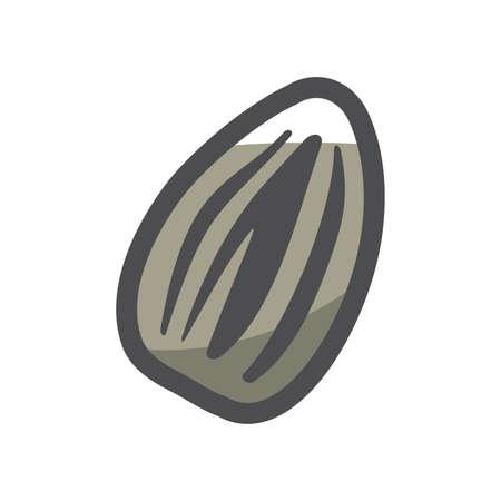 Sunflower Seed simple Vector icon Cartoon illustration.