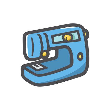Sewing Machine device Vector icon Cartoon illustration. 矢量图像