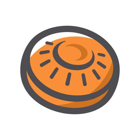 Clay target sport plate Vector icon Cartoon illustration