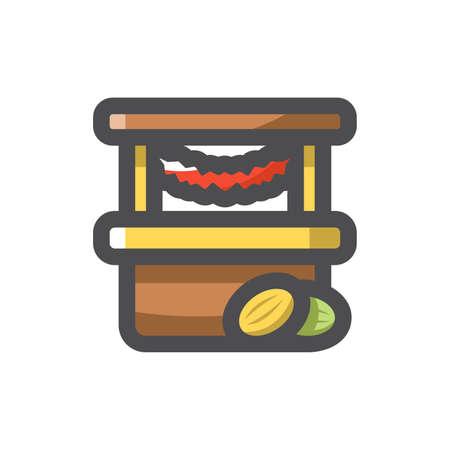 Street Shop Market Store Vector icon Cartoon illustration