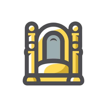 Throne made of gold Vector icon Cartoon illustration 矢量图像