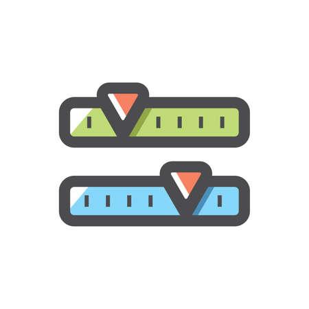 Radio tuner scale dashboard Vector icon Cartoon illustration 矢量图像