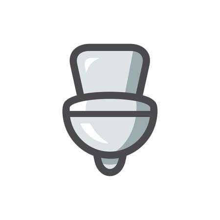 Toilet bowl sanitary ware Vector icon Cartoon illustration