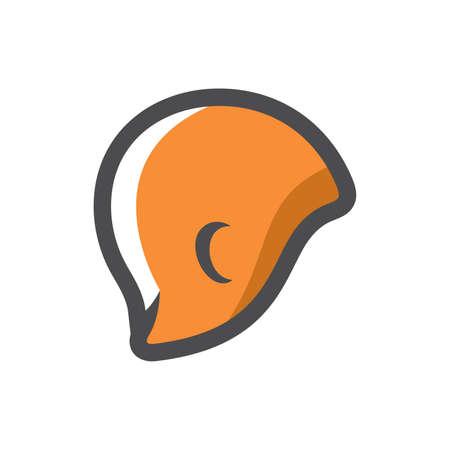 Swimming orange Cap Vector icon Cartoon illustration.