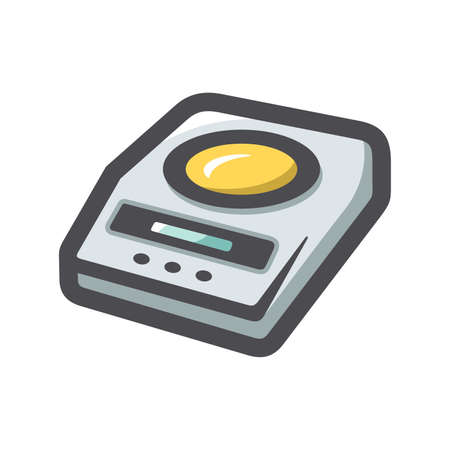 Scales for fitness Vector icon Cartoon illustration.
