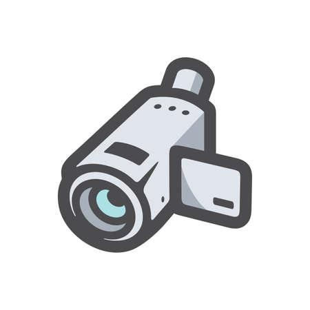 Video Camera equipment Vector icon Cartoon illustration. 矢量图像