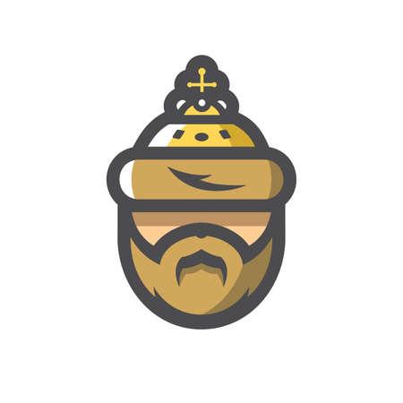 Crown Russian tsar Vector icon Cartoon illustration.