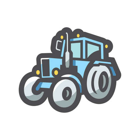 Tractor agricultural machinery Vector icon Cartoon illustration. 矢量图像