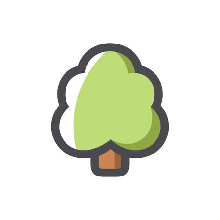 Simple Tree symbol Isolated on White Background