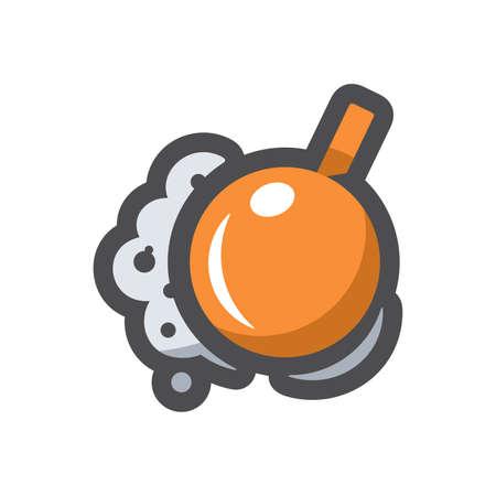 Wrecking ball Destruction Vector icon Cartoon illustration