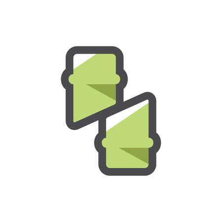 Bamboo trunk slice Vector icon Cartoon illustration 矢量图像
