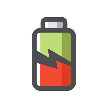 Battery Charging symbol Vector icon Cartoon illustration