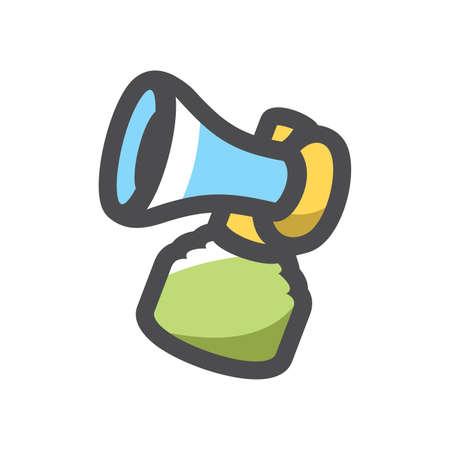 Air horn Beep Fan Vector icon Cartoon illustration