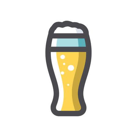 Glass mug of beer Vector icon Cartoon illustration