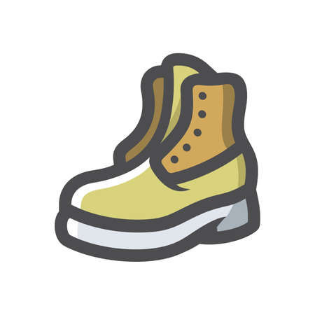 Army boot symbol Vector icon Cartoon illustration