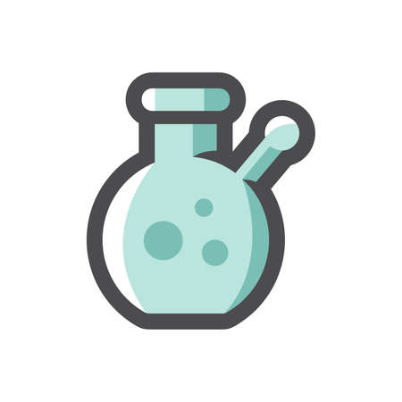 Bong Smoking Pipe Vector icon Cartoon illustration