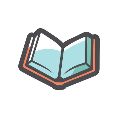 Open Book symbol Vector icon Cartoon illustration