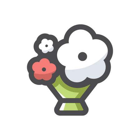 Flower summer bouquet Vector icon Cartoon illustration 矢量图像