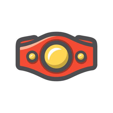 Box champions Belt Vector icon Cartoon illustration