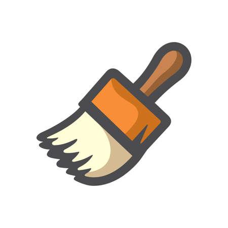 Paint brush symbol Vector icon Cartoon illustration