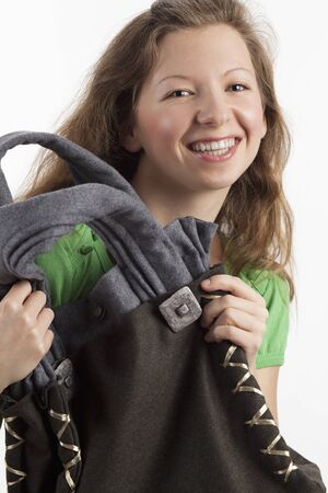 Young woman with traditional bag Stock Photo - 13362387