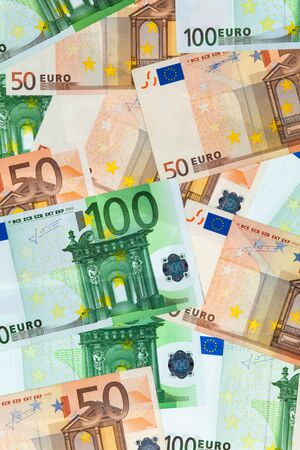 financially: Flat surface of banknotes