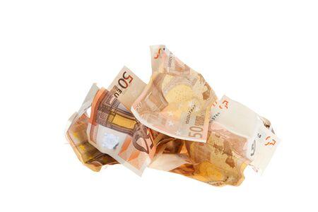Cutout of banknotes