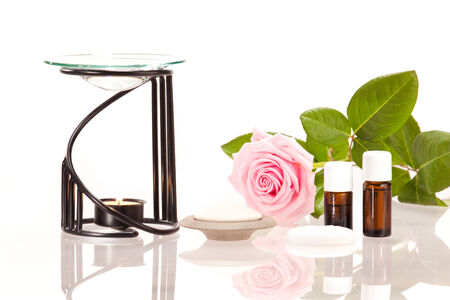 Room fragrance with aroma lamp and aroma stones