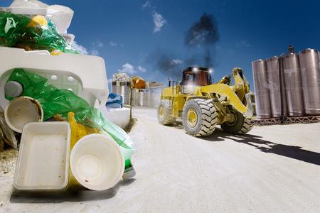 Disposing of waste in a big way Stok Fotoğraf