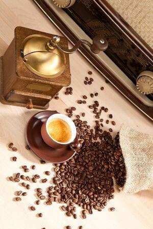 indulgence: Indulgence of freshly ground coffee beans