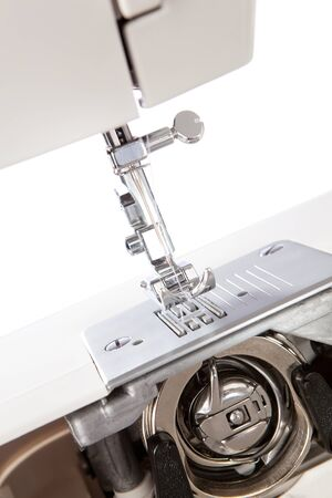detailed view: Detailed view of a sewing machine