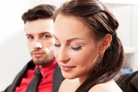sympathetic: Young sympathetic couple