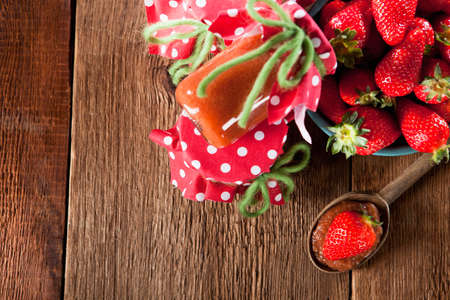 untreated: Untreated jam with home-grown strawberries