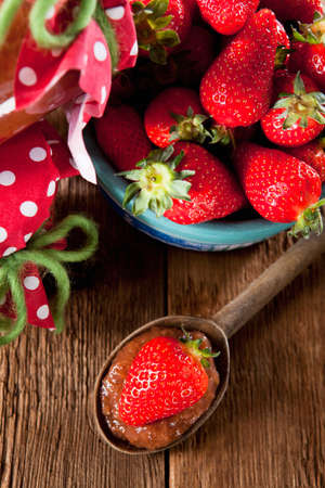 untreated: Untreated jam with homegrown strawberries