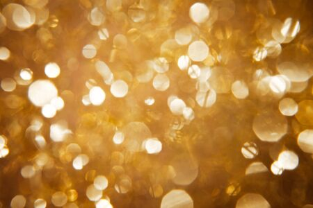 glimmer: Bokeh in shimmering gold Stock Photo