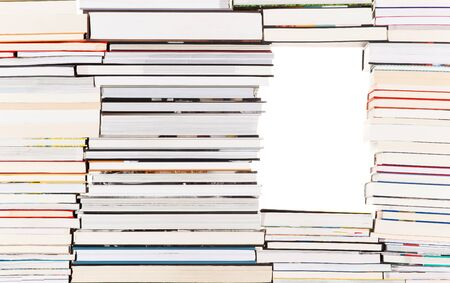 learning series: White gap in a pile of books