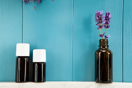 Essential oils of lavender in Mediterranean ambience