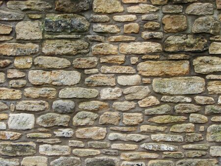 build in: Example of stones and skill to build this wall in Somerset England                                Stock Photo