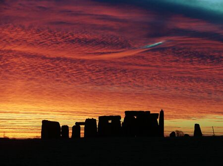 Stonehenge this shot was taken on 11/12/07 showing a fantastic Sunrise                                Stock Photo - 2269778