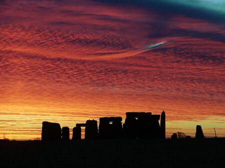 Stonehenge this shot was taken on 11/12/07 showing a fantastic Sunrise                                Stock Photo - 2269778