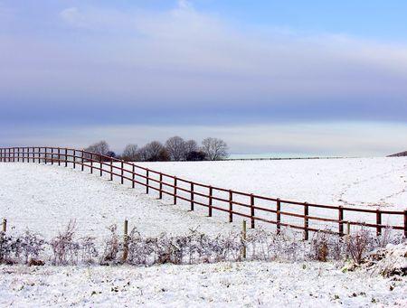 wintery: Wintery scene from Somerset in England